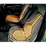 KOZDIKO Wooden Acupressure Bead Seat Cover for All Cars (45367546520)-Set of 2