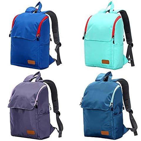 WOLTU® RS8301gn , Swisswin Rucksack Daypack Backpack Laptop 14-15 zoll Herren Damen Kinder Schule Freizeit 17 zoll Laptoprucksack Sportrucksack Kinderrucksack Schulrucksack Grün