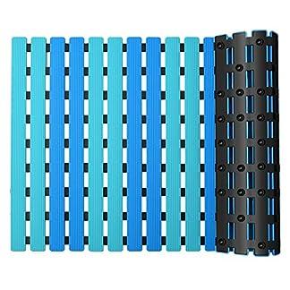 YISUN Alfombras de baño de baño antideslizante Ventosa cuadrada Durable de plástico baño baño bañera ducha alfombra antimoho y antibacteriano