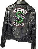 Riverdale Southside Serpents Jacke Damen, Teenager Mädchen Mode Lederjacke  Coole Leder Pullover Frauen Slim Fit Sweatshirt Bauchfreier Pulli Kurz Crop  Tops ... c7cb85fbb7