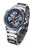 FIREFOX WORLDTIMER FFS40-103 sunray blau Weltzeitanzeige Chronograph Herrenuhr Armbanduhr Sicherheitsfaltschließe massiv Edelstahl wasserdicht Miyota OS20 Werk