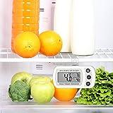 Oria Digital Kühlschrank Thermometer Wasserdicht Gefrierschrank Thermometer mit Haken Leicht zu LCD-Display Lesen, Max/Min Funktion Perfekt für Wohnhaus, Restaurants, Bars, Cafes, Eisschrank, etc. - 6