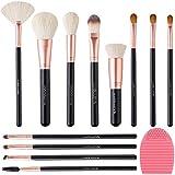 Make Up Pinsel Set, LuolLove 12 Makeup Pinsel Sets Professionell Pinsel Set für Berufsverfassungs oder Ausgangsgebrauch Kosmetikpinsel, mit Silikon Bürsten Reiniger