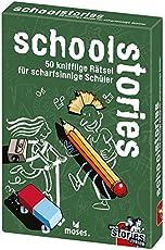 moses. Verlag GmbH 109761 School Black Stories Junior | 50 knifflige Schüler | Das Rätsel Kartenspiel ab 8 Jahren, Mehrfarbig