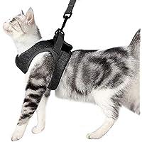 Dotoner Arnes Gato Juego de arnés y Correa para Gato Ultraligero Suave y cómodo Chaqueta para Caminar para Gatos Acolchada a Prueba de Escapes Apto para Cachorros Conejo (M,Gris)