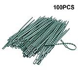 17,5 cm Pflanzenbinder Einstellbar 100 Stück, Pflanzen Anbinder Kunststoff Schnellbinder für Pflanzen Unterstützung