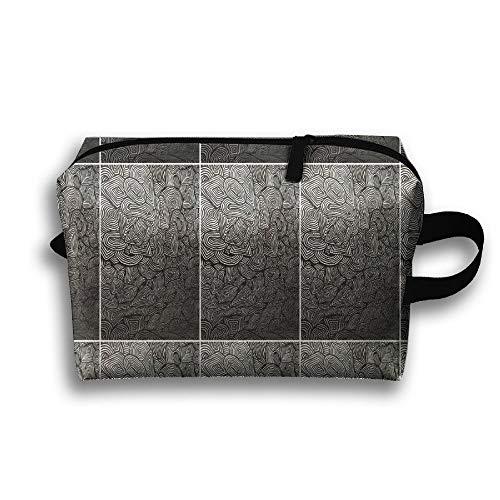 Unisex Tourist Bag Mind Radiergummi Psychedelic Pattern Multifunktions-Reise-Make-up-Tasche mit Reißverschluss-Kosmetik-Beutel-Taschen -