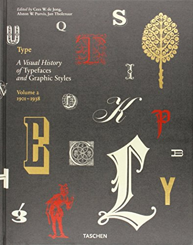 Type. Ediz. italiana, spagnola e portoghese: Type. A Visual History of Typefaces & Graphic Styles. 1901?1938: 2 por Alston W. Purvis