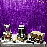 ShinyBeauty tenda/fondale decorativo 1,2x 1,8m, in tessuto brillante viola con paillette per fotografia, matrimoni ed eventi , Purple, 4FT*6FT