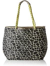 TAMARIS VIVIEN Damen Handtasche, XL Shopper, 58x40x18 cm (B x H x T), sand comb.