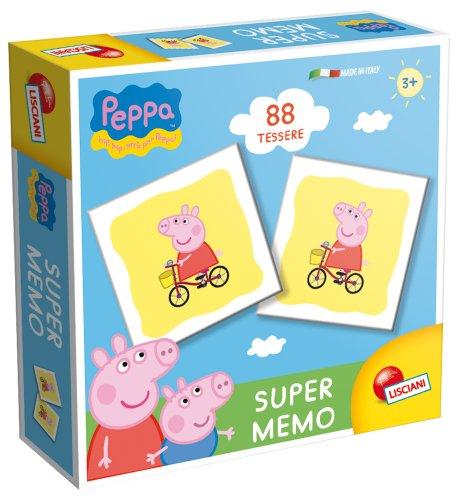 Lisciani giochi lisciani peppa pig super giochi da tavolo memory e memo games, multicolore, 8008324043903