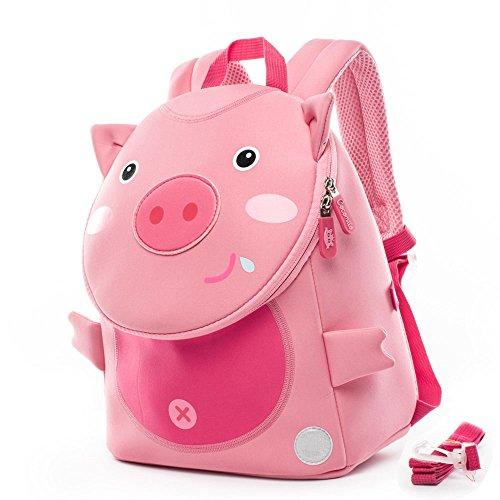 Sicherheit Anti-verlorene Leine Tier-Themen-Baby Schultasche von Cocomilo (Rosa Schwein) (Süße Mädchen-thema)