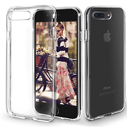 Funda iPhone 8 Plus, Orzly® - FlexiCase para Apple iPhone 8 PLUS/iPhone 7 PLUS (5.5 Pulgadas) - Funda Protectora de Gel Flexible 100% TRANSPARENTE [Compatible con carga inalámbrica]