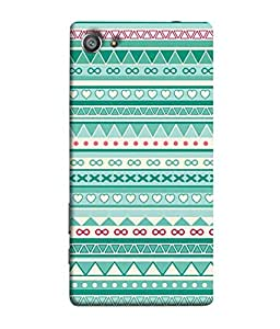 PrintVisa Designer Back Case Cover for Sony XperiaZ5 Compact (Jaipur Rajasthan Tribal Azitec Mobiles Indian Traditional Wooden)