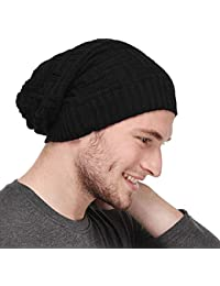 MoohMaya™ Premium Black Beanie Cap for Men & Women with Inside Furr Bob Marley Style Skull Free Size Fitted to All