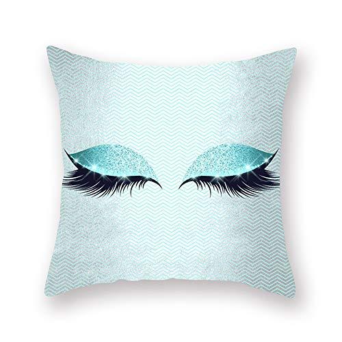 Zierkissenbezüge Wimpern Peach Pillowcase 45 * 45cm zm0121 (Color : 23)