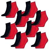 Levis Unisex Socken Mid Cut 168SF 8er Pack, Größe:39-42, Farbe:Red/Blue (505)
