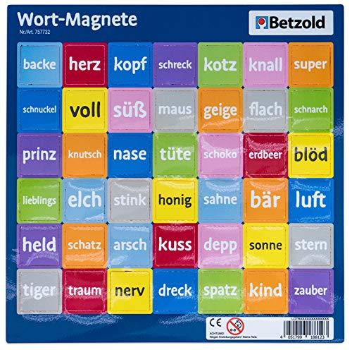 Betzold 757732 - Wort-Magnete, 42-TLG. - Deutsch Lehrmittel Grundschule (Kühlschrank-magnete Lernen)