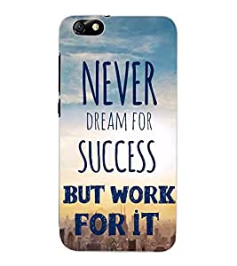 ColourCraft Quote Design Back Case Cover for HUAWEI HONOR 4X
