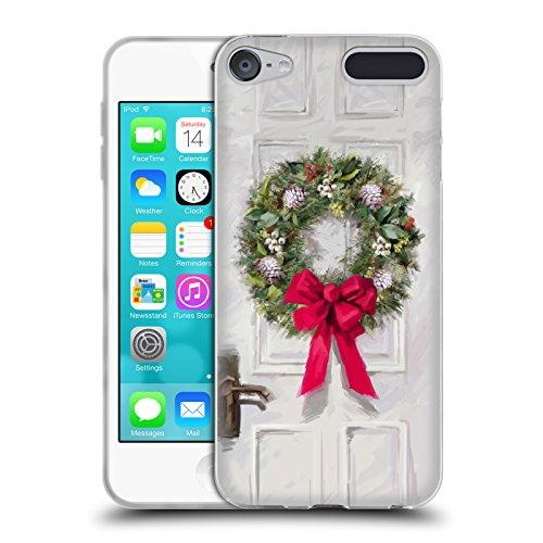Head Case Designs Offizielle The Macneil Studio Kranz Weiss Weihnachtsdekoration Soft Gel Hülle für Apple iPod Touch 6G 6th Gen (Soft Touch Kranz)