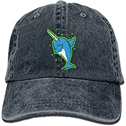 Yuting Gorras béisbol Kawaii Dabbing Narwhal Denim Hat Adjustable Male Fitted Baseball Hat