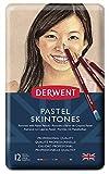 Derwent Skintones Coffret 12 crayons pastel Boîte en métal