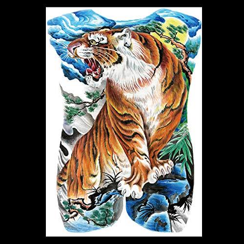 HXMAN Wasserdichte Temporäre Tattoo Super Große Voller Rücken Körper Malerei Gefälschte Tattoos Dunkelheit Schädel Elefant Drachen Tattoo Aufkleber Groß MB-010