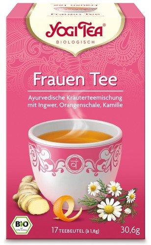Yogi Tee, Frauen-Tee Ayurvedische Teemischung, Biotee, wunderschöne, liebliche, aromatische Kräuter- & Gewürztee-Mischung, 17 Teebeutel, 30,6g
