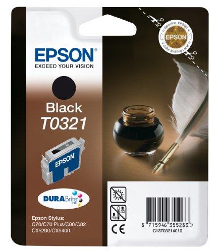 Epson T0321 Cartouche d'encre d'origine Pigment Noire pour C70 C80 C82 CX5200 CX5400