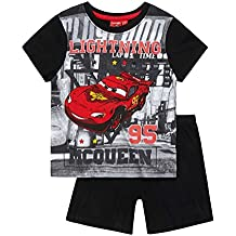 Disney Cars 2 Pyjama Kollektion 2016 Shortie 92 98 104 110 116 122 128 Shorty Kurz Jungen Sommer Neu Schlafanzug Lightning McQueen Schwarz