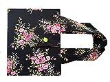 Tasche für den Schönfelder - Schwarz mit Blumen