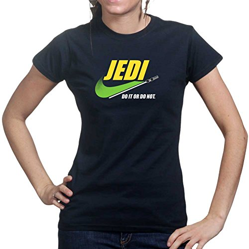 Customised_Perfection Jedi Knight Do it or Do Not Funny Ladies T Shirt Tee Top