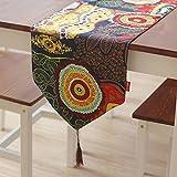 Tischläufer Baumwolle Southeastern asiatisch-amerikanischen ethnischen Stil Festival Party Startseite Tischdecke Tischdecke Breite: 30cm ( MUSTER : A , größe : 30*180cm )