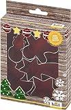 knusper.haus Set de 5 emporte-pièces en Forme de Biscuits avec Recette de Noël Blanc 5-8 cm