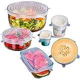 MUZIYU Couvercles Extensibles en Silicone Durable Pour Garder les aliments frais Lave-vaisselle congélateur,Pack de 6 de Différentes Tailles