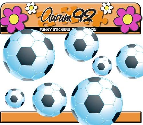 25 + Football Stickers en noir - étanche et Résiste aux intempéries, intérieur ou extérieur