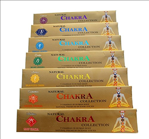 Ayurvedic Bamboo 7 Chakra Incense Sticks for Human Body (Multicolour) - Packs of 7