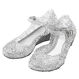 Katara-Zapatos De Princesa Con Cuña Disfraz Niña, color blanco, EU 27 (Tamaño del fabricante: 29) (ES10)