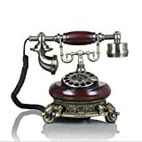 JXXDDQ Metalldrehknopf/europäisches antikes Telefon/Retro- festes Telefonfestnetz/mechanischer Klingelton (Farbe : A)