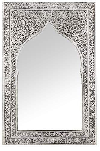 Marrakesch Orient & Mediterran Interior ® Orientalische Spiegel Malika Silberfarbig Klein