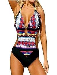 Ularma Femmes nouveau soutien-gorge de Bikini imprimé Bohême une pièce maillots de bain marque maillot de bain