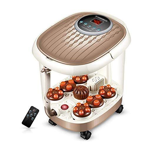 FAP Bain de Pied, Seau de Pied de Mousse de Maison Profond de Thermostat Chauffant de Bain de Pieds Chauffant Complètement Automatique, Marron, a
