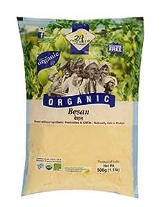 24 Mantra Organic Besan, 500g (Pack of 3)