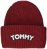 Tommy Hilfiger Damen Strickmütze Logo Patch Beanie, Rot Red 614, One Size (Herstellergröße: OS)