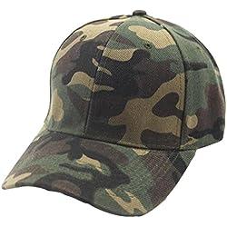 Gorra De BéIsbol De Camuflaje AIMEE7 Gorras De BéIsbol De Camuflaje Ajustables Para Hombres Y Mujeres (Verde)