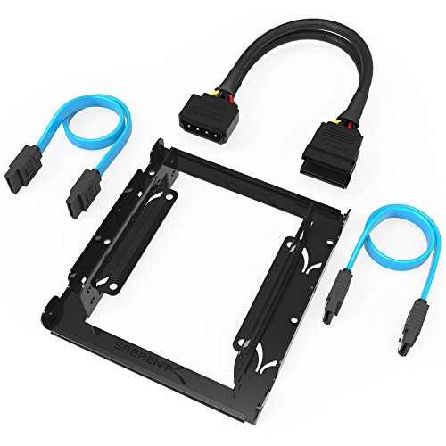 sabrent-35-inch-to-x2-ssd-25-inch-internal-hard-drive-mounting-kit-sata-and-power-cables-included-bk