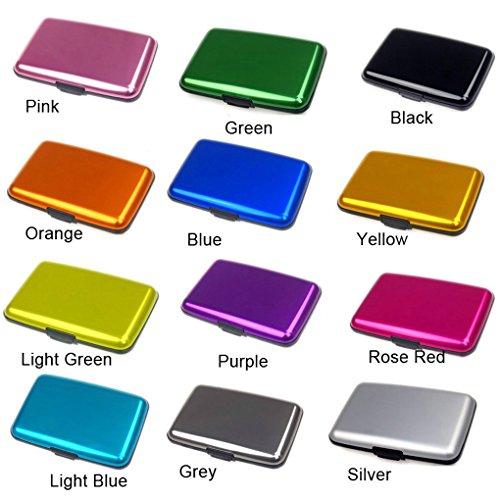 QHGstore Business-Kreditkarte-Halter-Mappen-Taschen-Kasten Anti Rfid Grün