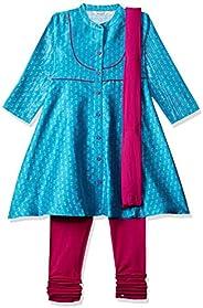Karigari by Unlimited Girls' A Line Regular Fit Salwar Suit