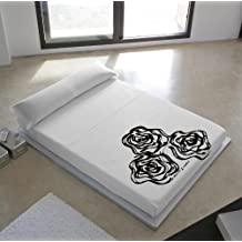 Devota & Lomba 43292 - Juego de sábanas compuesto por encimera, 210 x 270 cm, bajera, 135 x 190/200 cm, funda para almohada, 45 x 110 cm, diseño rosas