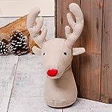 Questa novità Natale fermaporta è sicuro di portare un sorriso. In una novità renna cervo, con un naso rosso familiare, questo bellissimo fermaporta in stoffa fa una grande novità ed è anche un pratico accessorio. Perfetto per uno stile rusti...